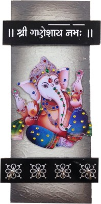 A To Z Sales AZ110W Wooden Key Holder(4 Hooks, Multicolor)