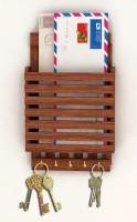 Ganeshaas GHKH003 Wooden Key Holder(5 Hooks, Clear)