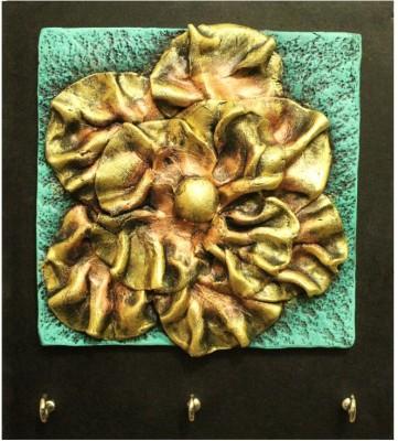 Kraftnation Golden Flower Terracotta Key Holder