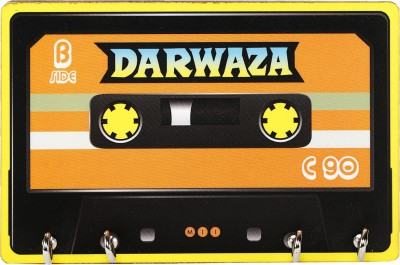 Mad(e) in India Cassette Wooden Key Holder