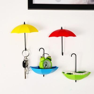 Gade umbrella shape 4 pcs Plastic Key Holder