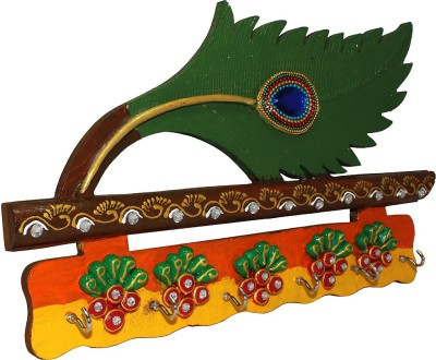 Ranvijay Wing & Flute Shaped Wooden Key Holder