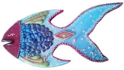 Chitra Handicraft Fish Key Holder Wooden Key Holder