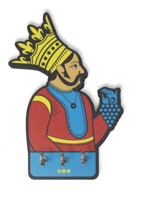 Mad(e) in India Maharaja Wooden Key Holder