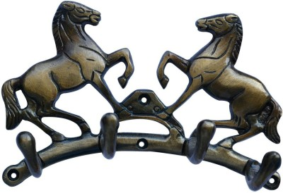 Aakrati Two Horse Unique for Gift Aluminium Key Holder