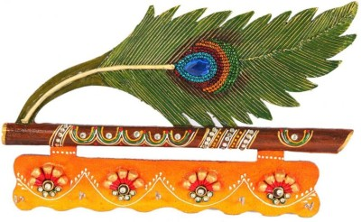 Fashion Bizz Handicraft Morpankhi Wall Wooden Key Holder