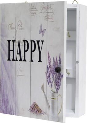 Gifts By Meeta Happy Key Holding Box Wooden Key Holder