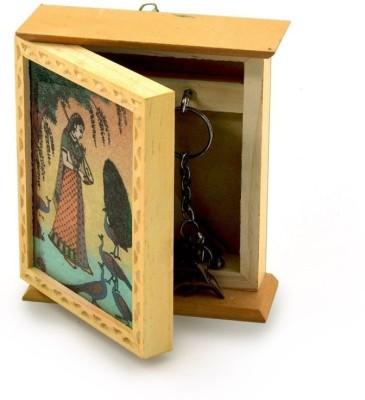 OceanEnterprises Wall Hand Glow Painting Hanger Stand Wooden Key Holder