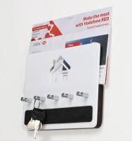Bluewud Wall Key Chain Holder Amadour - 5 Keys Wooden Key Holder(5 Hooks, Brown, White) best price on Flipkart @ Rs. 699