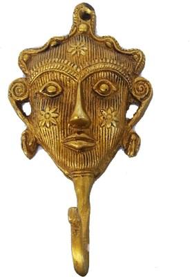 Aakrati wall dcor key hook/ holder Brass Key Holder(1 Hooks)