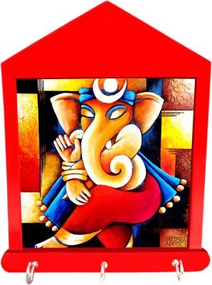 Tiedribbons Gifts For Diwali Dancing Ganesha Chain Wooden Key Holder