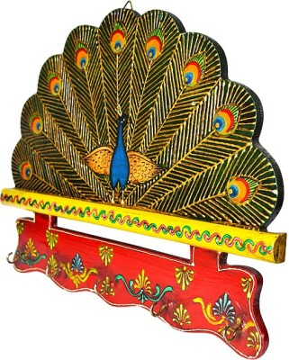 Narbman Peacock Wooden Key Holder