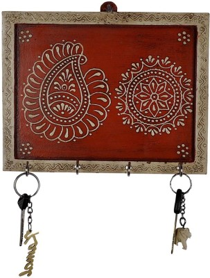 Lal Haveli Decorative Showpiece House Warming gift Wall Hanging Wooden Key Holder