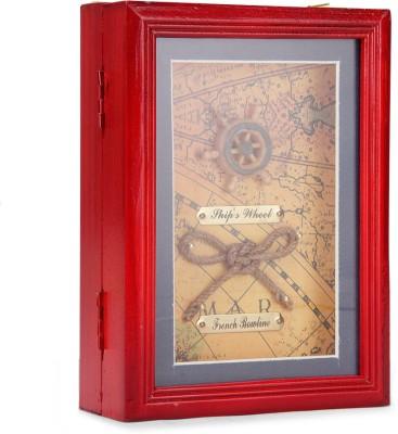 Design o Vista Wooden Key Holder(4 Hooks, Multicolor)