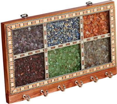 Traditional Rajasthan Gem Stone Wooden Key Holder