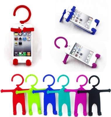 Colorkart Flexible Cell phone Plastic Key Holder(2 Hooks, Multicolor)