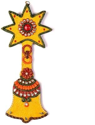 Shree Sai Rajasthani Handicraft Kundan Meenakari Aarty Bell Gift Wooden Key Holder