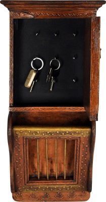 Lal Haveli Ethnic House Warming Gift Wall Showpiece Magazine Stand Hanging Wooden Key Holder