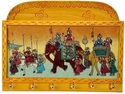 Desert Eshop Gemstone Painted Keys Letter Holder Handicraft 104 Wooden Key Holder