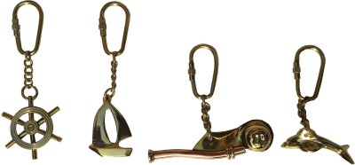 Royal Nautical Keychains Brass Key Holder(1 Hooks, Multicolor)