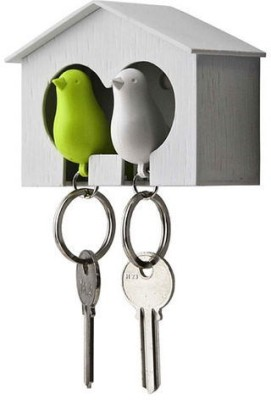 GeekGoodies Sparrow Birds Plastic, Wool Key Holder