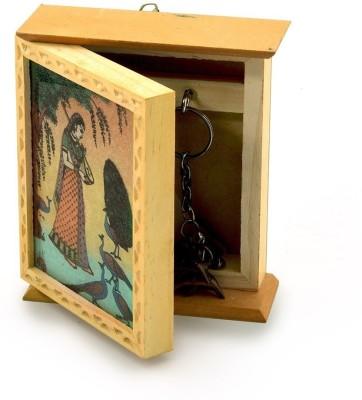 Desert Eshop Rajasthani Gemstone Painting Box Wooden Key Holder