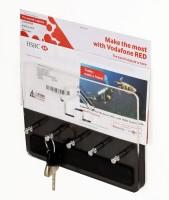 Bluewud Wall Key Chain Holder Amadour - 5 Keys Wooden Key Holder(5 Hooks, Brown, Clear) best price on Flipkart @ Rs. 699