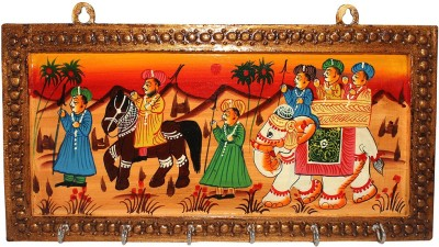 Ranvijay Royal Procession Wooden Key Holder