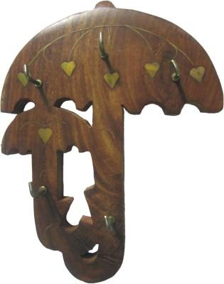 Bkdt Marketing Handicraft Hand Made Beauiful Decorative Wall Hanging Umbrella Shape Wooden Key Holder