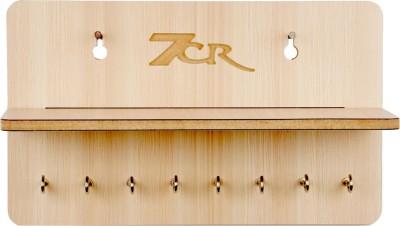 7CR F shelf Wooden Key Holder(8 Hooks)