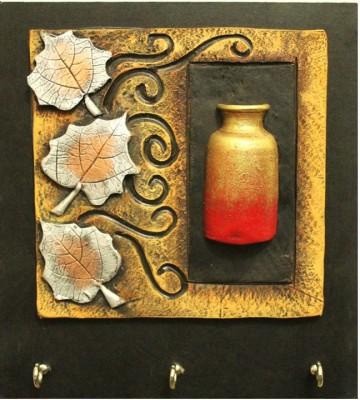 Kraftnation Leaves & Pot Terracotta Key Holder