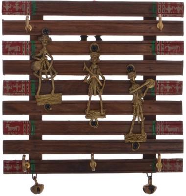 Imli Street Wooden, Brass Key Holder