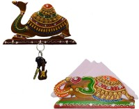 eCraftIndia Combo of Camel Key Holder and Tissue Paper Holder Wooden, Ceramic Key Holder(3 Hooks, Multicolor) best price on Flipkart @ Rs. 574