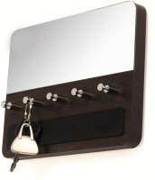 Bluewud Wall Key Chain Holder Spiegel - 5 Keys Wooden Key Holder(5 Hooks, Brown, Silver) best price on Flipkart @ Rs. 599