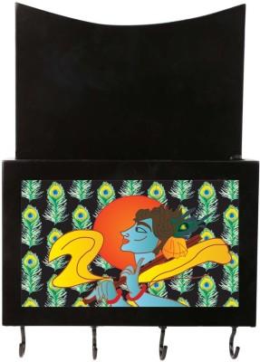 Art Potli Krishna Wooden Key Holder