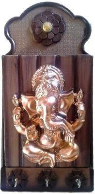 Divine Temples Ganesha Plastic Key Holder