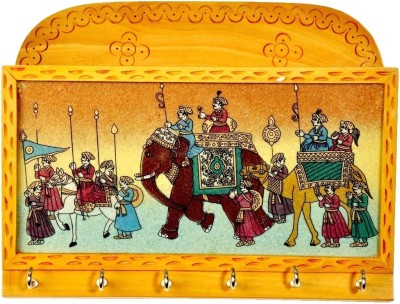 Traditional Rajasthan King Wooden Key Holder
