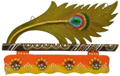 Crafticia Morpankhi Key Holder With Embosed Work Wooden Key Holder