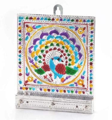 Shree Sai Jaipuri Meenakari Designer Colorful Handicraft Wooden Key Holder