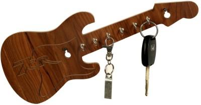 7CR Guitar WB 7.1 Wooden Key Holder(6 Hooks)