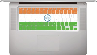 Bsaan Macbook 13.3 /15.4 Macbook Pro/Air 13.3/15.4 Keyboard Skin(saffron, white and India green)