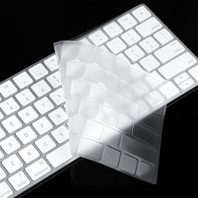 Saco Ultra Thin Clear Soft TPU Cover for Apple Magic US version Desktop Keyboard Skin(Transparent)
