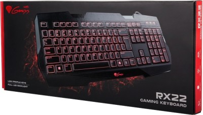 Natec Genesis RX22 Backlit Wired USB Gaming Keyboard