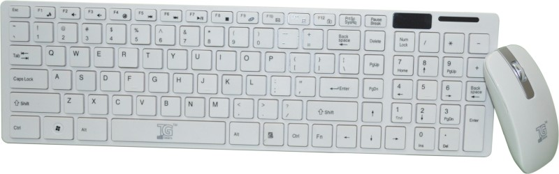 TacGears Tgwlkbc5001w Wireless Laptop Keyboard(White)