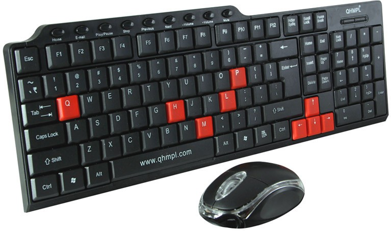 Quantum QHM8810 Wired USB, PS2 Keyboard & Mouse Combo