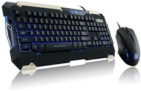Tt eSPORTS Commander Gaming Gear With Mouse Wired USB Keyboard & Mouse Combo