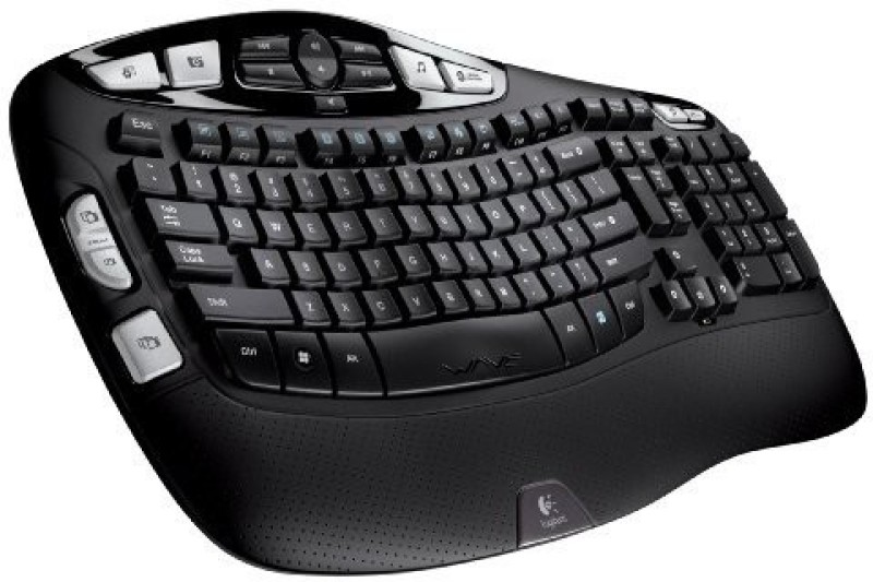 Logitech K350 Wireless Laptop Keyboard(Black)