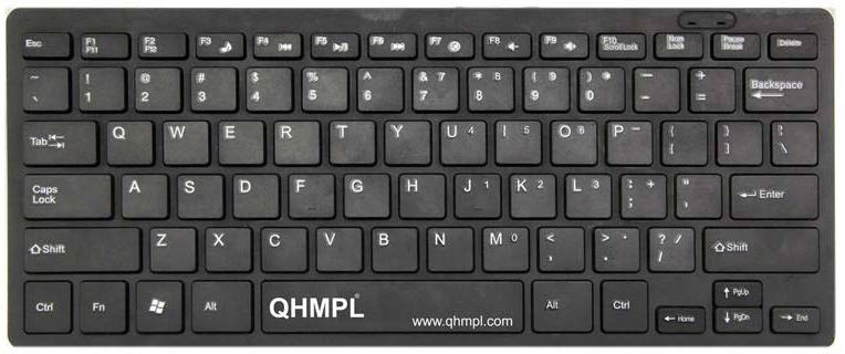 Quantum QHM7307 MINI MULTIMEDIA KEYBOARD Wired USB Laptop Keyboard(Black)