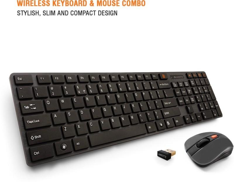 Amkette Optimus Wireless Laptop Keyboard(Black)