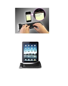 Slaveofvogue Wireless Rubber Silicon Bluetooth Tablet Keyboard